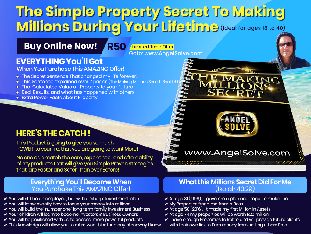 Making Millions 7 page Booklet by Durban Lifecoach Richard Daguiar